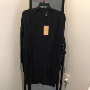 NWT Halogen black open front cardigan